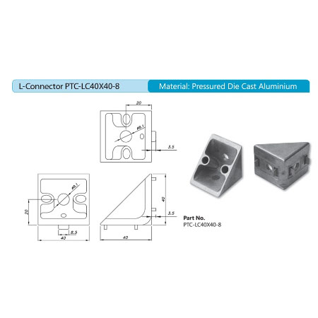 L-Connector PTC-LC40X40-8